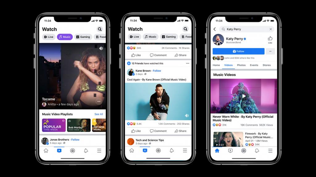 Es oficial, Facebook lanzó en su plataforma videos musicales. adrian abreo